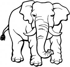 Small Picture Happy Cartoon Elephant Coloring Page Free Printable Coloring