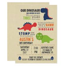 Dinosaur Birthday Invitation Dinosaur Birthday Invitations