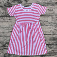 New Fashion Baby Dress Designs Us 180 0 2018 New Model Girl Dress Baby Frock Design Pictures Summer Kids Boutique Dress Fashion Stripe Dress In Dresses From Mother Kids On