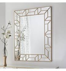 Small Picture Verbier Large Modern Painted Gold Rectangle Overmantle Wall Mirror