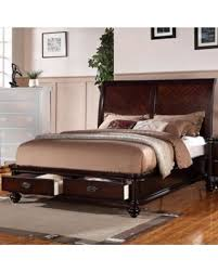 king bed with drawers. Immaculate Wooden E.King Bed With 2 Under Drawers, Smooth Cherry Finish King Drawers