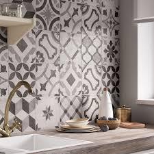 Lovely Décor Mur Blanc Et Gris Mat L.20 X L.20 Cm, Deco ...