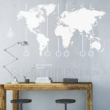 world map decal world map wall art
