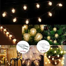 String Light Outdoor Christmas Tree Details About 10 160 Led Christmas Pine Cone String Lights Outdoor Indoor Decor Wedding Party