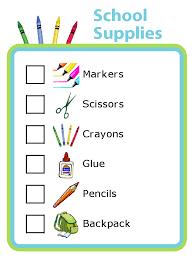 School Supplies Checklist Plus Lots Of Other Printable Activities
