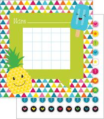 Reward Chart Target Reward Chart With Stickers Summer Fun Select Potty Target