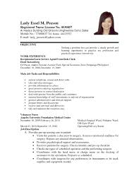 Resume With Volunteer Experience Template Sample Resume Of A Nurse In The Philippines Fresh Application 91