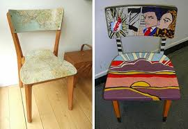 furniture upcycling ideas. Upcycled Chairs - Cool Ideas For Random Chair Make Overs. Furniture Upcycling O