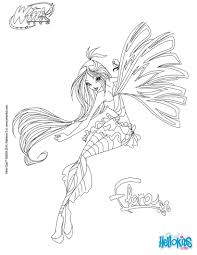 Coloriages Flora Transformation Sirenix Fr Hellokids Com