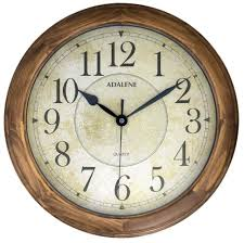 adalene 14 inch large wall clock decorative living room modern battery
