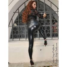 faux leather leggings razer black
