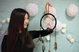 Asian Dream Catcher Beautiful Korean The Girl Holding A Dream Catcher Stock Photo 19
