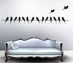 Small Picture Buy Decals Design Beautiful Long Tail Birds on Wire Wall Sticker