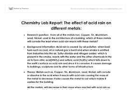 acid rain lab report international baccalaureate chemistry  document image preview