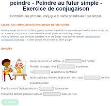 futur simple exercices conjugaison
