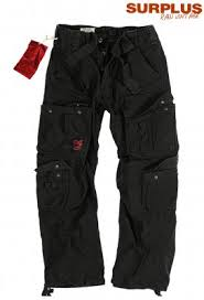 Surplus Raw Vintage Airborne Pants Black