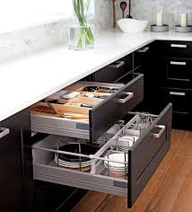 appliance garages pull out shelves help organize kitchen
