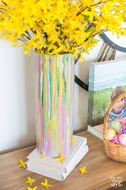 amazing how to decorate a glass vase painted for springtime decorating in my own style on console table with ribbon christma glitter tissue paper paint fall