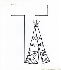 Letter T Coloring Page Coloring Page Free Alphabets Coloring Pages