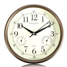 9 inch silent wall clocks modern designs withtemperature and humidity
