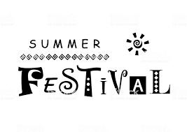 黒で夏祭りのレタリング Hard Summer Music Festivalのベクターアート
