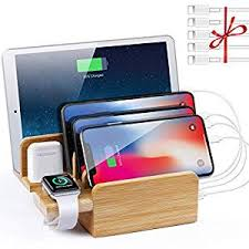 NEXGADGET 6 in 1 Bamboo Charging Station for ... - Amazon.com