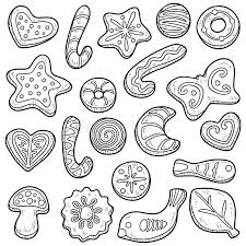christmas cookie clip art black and white. Fine White Collection Of Vector Set Cookies Clipart Black And White Stock To Christmas Cookie Clip Art Black And White