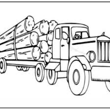 logging coloring pages logging semi truck coloring pages logging truck coloring page in