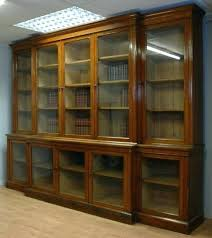 antique library bookcases bookcase with doors vintage stylish oak bookshelf glass doo oak bookcase cabinet with two doors