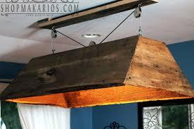 hanging barn wood chandelier flush mount lighting