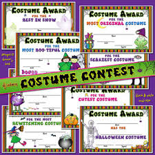 Costume Contest Certificate Template Costume Contest Certificates For Halloween With Clipart By