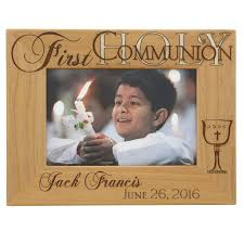 personalized first communion wooden frame