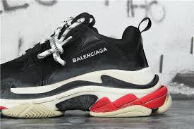 High Quality Replica Designer Shoes Ua High Quality Replica Balenciaga Triple S Trainer Sneakers Black Top White Sole Color