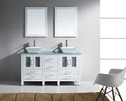 virtu usa bradford 60 double bathroom vanity set in white