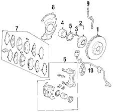 parts com® acura setpad fr ad45t partnumber 45022s3va12 2004 acura mdx touring v6 3 5 liter gas brake components