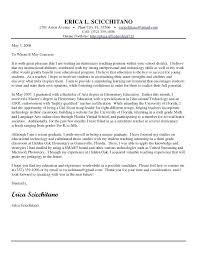 Elementary Teacher Resume Cover Letter Teacher Cover Letter Example ...