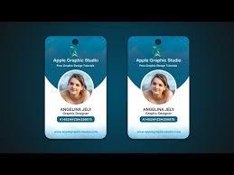 Youtube Photoshop Cc Company Tutorial Id 2017 Design - Card