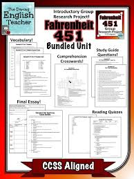 best teaching fahrenheit images fahrenheit fahrenheit 451 novel study and teaching unit