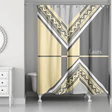 grey chevron shower curtains. Modren Grey Geo Custom Shower Curtain In GreyYellow And Grey Chevron Curtains