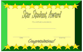 Name A Star Certificate Template Classy Unique Star Award Certificate Template Or Star Student Certificate 48
