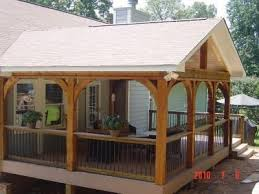 covered deck ideas. Covered Deck Ideas: Gable Roof And Arched Beams. Ideas S