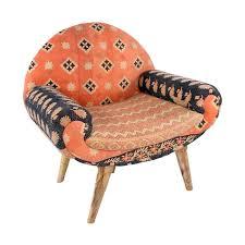 cloth chairs furniture. jaipur arm chair in vintage kantha dotandbocom eclectic furnitureupholstered cloth chairs furniture o