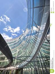 Curved Architecture Modern Office Finance Building Curved Architecture Royalty Free