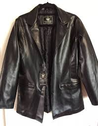 details about ea collection italy style mens black faux leather jacket nwt size small
