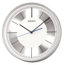 seiko wall clock with pendulum fantastic futuristic wall clock from clocks metallic silver plastic case modern