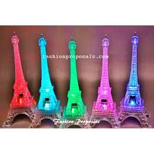 2 led eiffel towers centerpieces changing color centerpieces set of 2