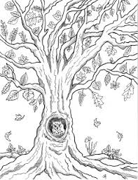 Small Picture Make it easy crafts Free printable autumn owl tree coloring page