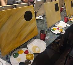 last night we had a bit of a girls night out at arte wine painting studio tucked into an adorable area of wauwatosa which is basically milwaukee