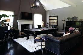 pool table rug living room