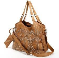 amerileather spirit leather studded tote